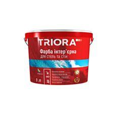Інтер'єрна фарба акрилова Triora для стін та стелі біла 1 л - фото