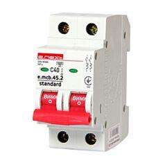 Автоматичний вимикач E.NEXT e.mcb.stand.45.2.C40 s002021 2P C 40 А 4,5 кА - фото