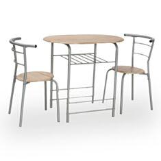 Комплект стол и стулья Gabo Signal дуб сонома - фото