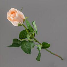 Штучна квітка Троянда 014FR-4/pink 56 см