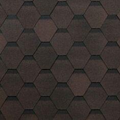 Битумная черепица Технониколь Оптима 3 кв.м коричневая - фото
