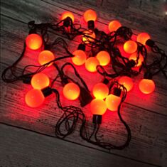 Гірлянда Кульки 40 LED 5 м червоний - фото