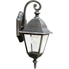 Светильник парковый Lusterlicht QMT 1117S Wimbledon I 100W стекло черный серебряный