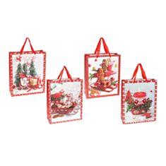 Пакет подарочный BonaDi PK4-118 Merry Holidays с глиттером 32 см - фото