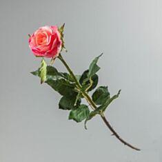 Штучна квітка Троянда 085F/pink 56 см