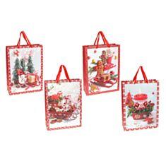 Пакет подарочный BonaDi PK4-119 Merry Holidays с глиттером 41 см - фото