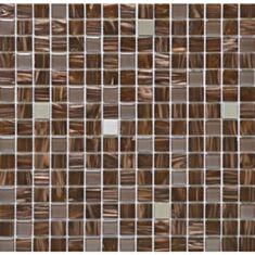 Мозаика Vivacer GLmix29 2*2см 32,7*32,7 коричневое золото