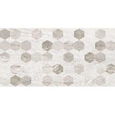 Плитка Golden Tile Marmo Milano Hexagon декор 8МG151 30*60 світло-сірий - фото