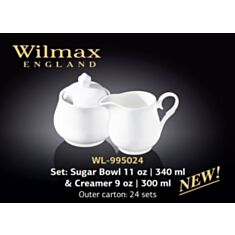 Набір цукорниця і молочник Wilmax 995024 - фото
