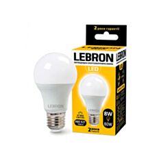 Лампа светодиодная Lebron LED L-A60 8W E27 3000K 700Lm угол 240° - фото