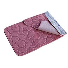 Набор ковриков для ванной комнаты Эконом розовый - фото