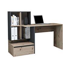Письмовий стіл GF Paco PC 02 111*145*52 см дуб артісан антрацит - фото