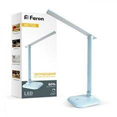 Настольная лампа Feron DE1725 LED 9W голубая - фото