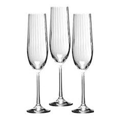 Келихи для шампанського Bohemia Waterfall Clear 40729 190мл 6шт