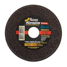 Круг відрізний по металу NovoAbrasive Extreme41 14А NAECD11510 115*1*22,23 мм - фото