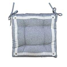 Подушка на стул Прованс Hygge Black 40*40 черная - фото