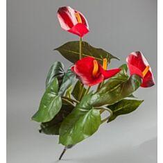 Штучна квітка Антуріум (букет) 082F/red 45см