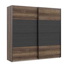 Шкаф двухдверный Bellevue RMRS324E1 дуб болотный/дуб черный - фото