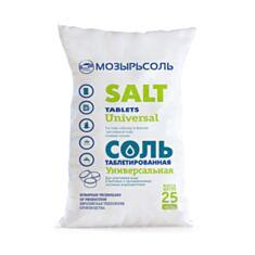Соль таблетированная Мозырьсоль 25 кг - фото