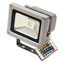 Прожектор Feron LED LL-180 10W RGB 230V серебряный IP44 + пульт
