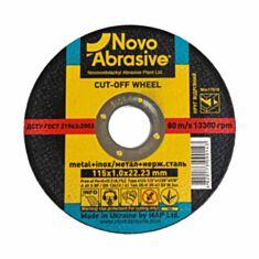 Круг відрізний по металу NovoAbrasive WM11510 т41 14А 115*1,0*22,23 мм - фото