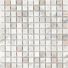 Мозаика Vivacer SPT017 2,3*2,3см 30,5*30,5 бело-бежевый мрамор