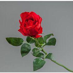 Штучна квітка Троянда силіконова 002FR-24/red  65см