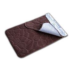 Набор ковриков для ванной комнаты Эконом коричневый - фото