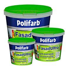 Фасадная краска акриловая Polifarb ФасадУльтра 4,2 кг белый - фото