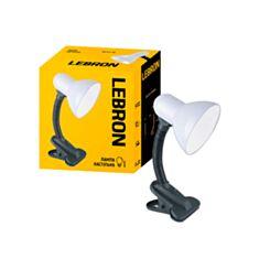 Настольная лампа Lebron L-TL-Clip 15-11-10 с клипсой белая - фото