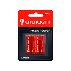 Батарейка Enerlight Mega Power LR03 AAA Alkaline 1,5V 4 шт - фото