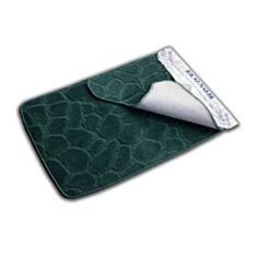 Набор ковриков для ванной комнаты Эконом зеленый - фото