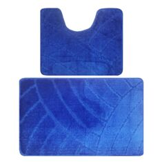 Набір килимків для ванної кімнати Banyolin 50*80 + 50*40 см синій - фото