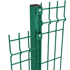 Столб для ограждения ПВХ Сетка-Запад Дуос анкер 38*58*1,5 мм 2,1 м - фото