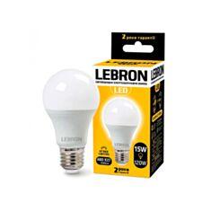 Лампа светодиодная Lebron LED L-A60 15W E27 6500K 1350Lm угол 240° - фото