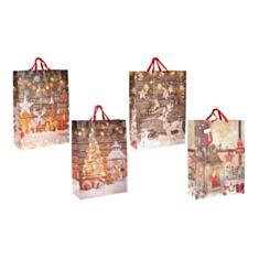 Пакет подарочный BonaDi PK4-134 Happy Holidays 70 см - фото