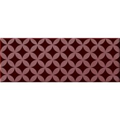 Плитка Imola Mozart Osmin BY1 декор 12,5*33,3 см бордова - фото