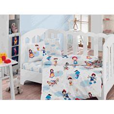 Комплект постельного белья Cotton Box Baby Ranforce Masal Dunyasi Bordo 100*150