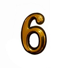 Номерок дверний №6 FZB 01-22-011 BN\GP - фото