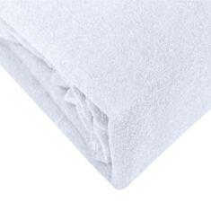 Простыня махровая с резинкой T&M 180*200 см белая - фото