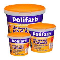 Фасадна фарба акрилова Polifarb Універсалфасад 1,4 кг білий - фото