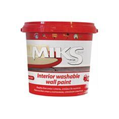 Інтер'єрна фарба акрилова Miks Color миюча біла 1 л - фото