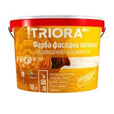 Фасадна фарба латексна Triora база TR з підвищеною покрівельністю 10 л