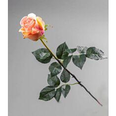 Штучна квітка Троянда силіконова 008F/peach 77см