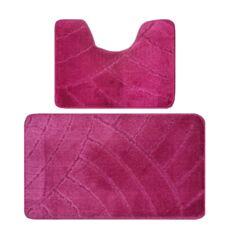 Набір килимків для ванної кімнати Banyolin 50*80 + 50*40 см бордо - фото