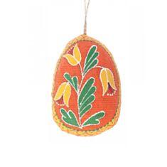 Писанка мала помаранчева з квіткою Koza Dereza 2025010015 - фото