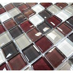 Мозаика Vivacer Mix C05 2,5*2,5 см 30*30 бело-коричневая