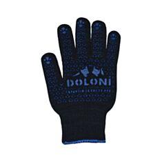 Перчатки рабочие Doloni 667 с ПВХ покрытием черные - фото
