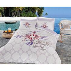 Комплект постельного белья Cotton Box Maritime Ranforce Voyage Lila 2,0