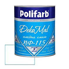 Емаль алкідна Polifarb DekoMal ПФ-115 біла 0,9 кг - фото